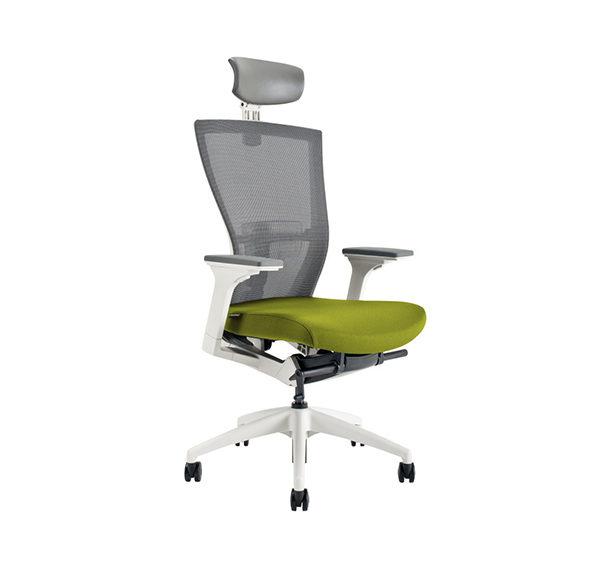 Kancelářské křeslo s podhlavníkem, BI 203, zelená - MERENS WHITE SP