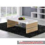Konferenční stolek, dub sonoma/bílá extra vysoký lesk HG, KONTEX 2 NEW